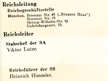 Beispiel einer Überklebung im Deutschen Führerlexikon 1934/35, Zweiter Teil, Seite 5: Der Stabschef der SA heißt laut Überklebezettel Viktor Lutze